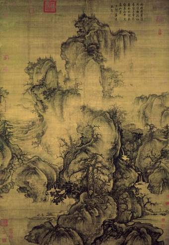 Guo Xi | Early Spring, dated 1072, ink and  color on silk, 158.3 x 108.1 cm, National Palace Museum, Taipei
